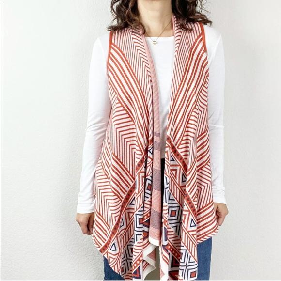 Umgee Aztec print sweater open-front cardigan n